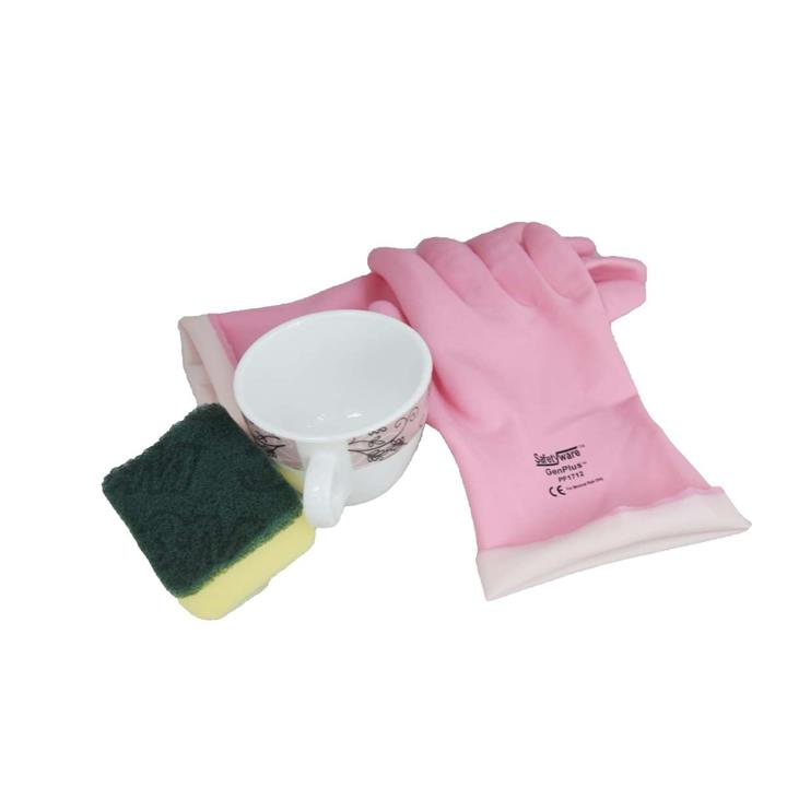 6 Pairs SAFETYWARE GenPlus™ PF1712 Flocklined Natural Rubber Glove