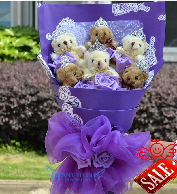 6 Teddy Bear Bouquet For Wedding Gi End 10 6 2020 12 54 Pm