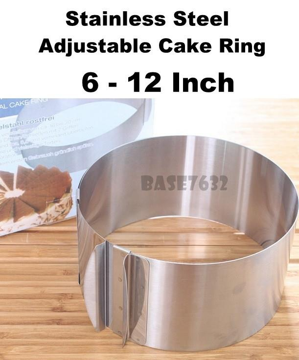 6 to 12  inch 6-12 Stainless Steel Adjustable Cake Ring Baking Mould