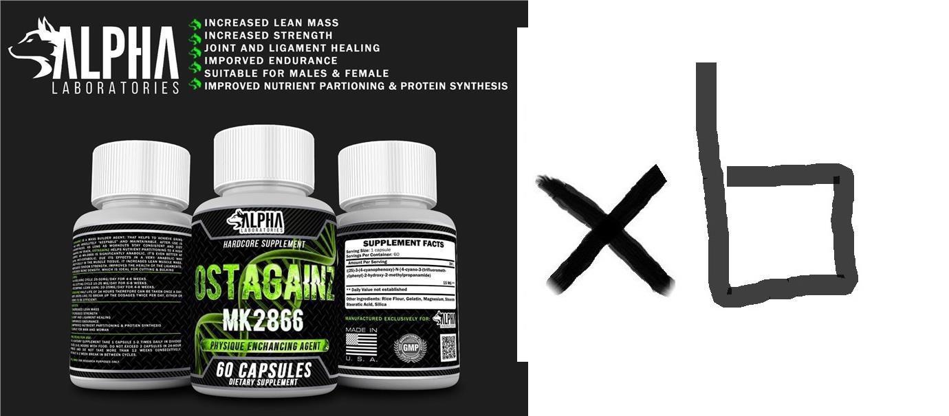 6 UNITS Alpha Lab Ostagain Ostarine MK2866 SARM (HGH , Otot, Muscle