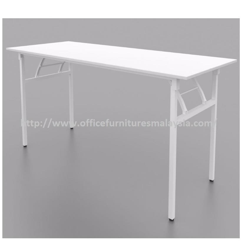 6 x 1.5 ft Office White Banquet Folding Table OFMW1845 seri kembangan