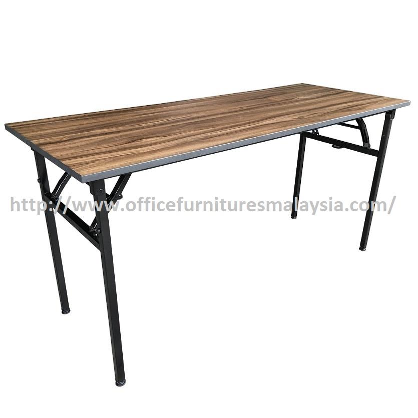 6 x 2 ft Cappuccino Rectangular Banquet Folding Table OFMB1860 selayan