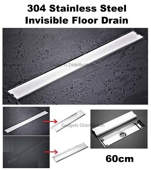60*6.8cm Invisible 304 Stainless Steel Long Floor Drain 2490.1