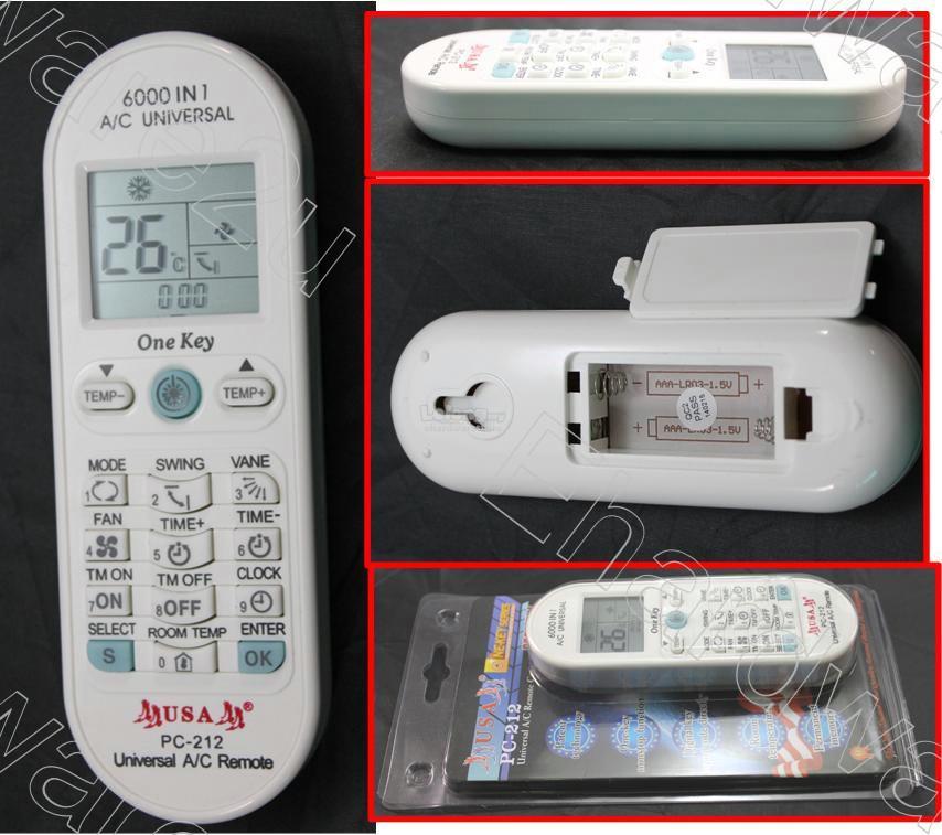 6000-in-1 Universal Air-Conditioner Remote (PC-212)
