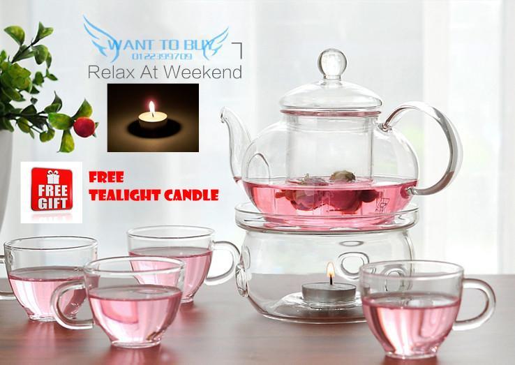 600ML Heisou Glass Teapot Flower Te (end 9/27/2018 11:15 PM)