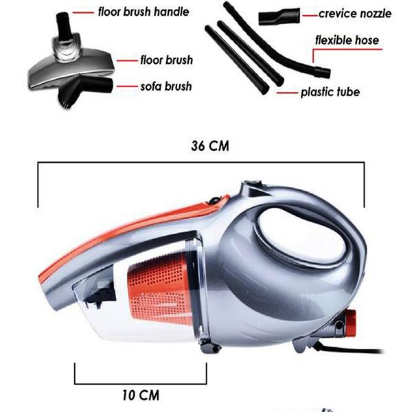 600W 2in1 PROMASTER Handheld ShoulderBelt Vacuum&Blow Cleaner Home Car