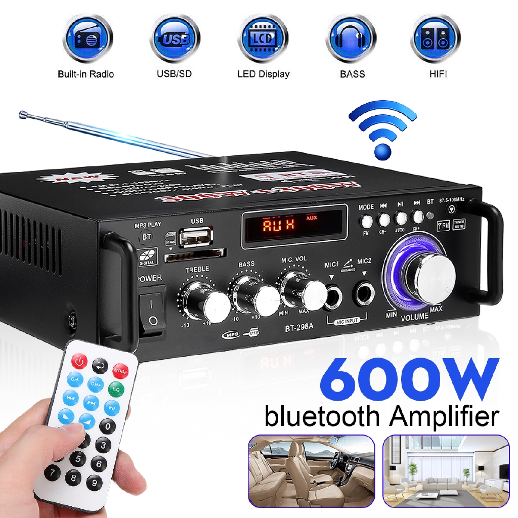 600w Home Amplifiers Audio BLUETOOTH Amplifier Subwoofer Amplifier Hom