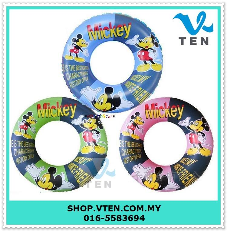 60cm 90cm Mickey Swimming Ring Swimming Circle Inflatable Flamingo