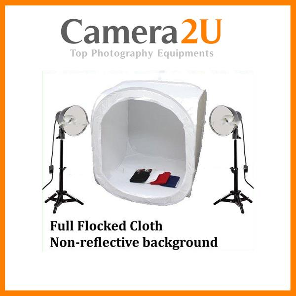 60cm Home Studio Light Tent Set with 30W Table Light 5500K