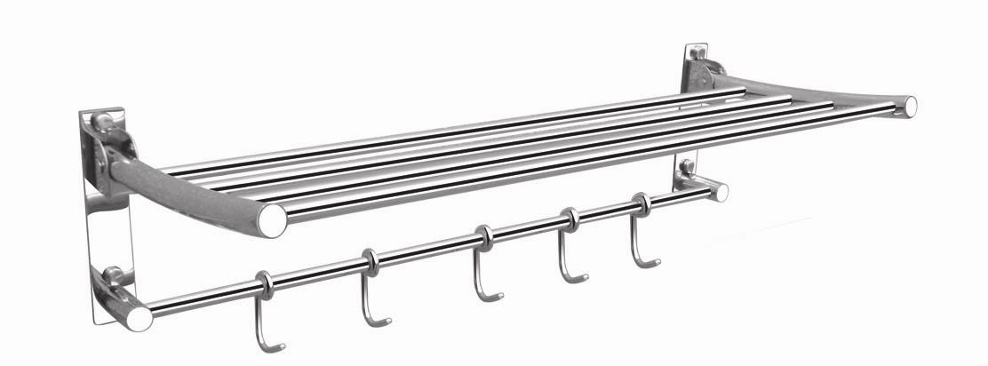 60CM STAINLESS STEEL FOLDABLE TOWEL RACK (FREE GIFT see store)