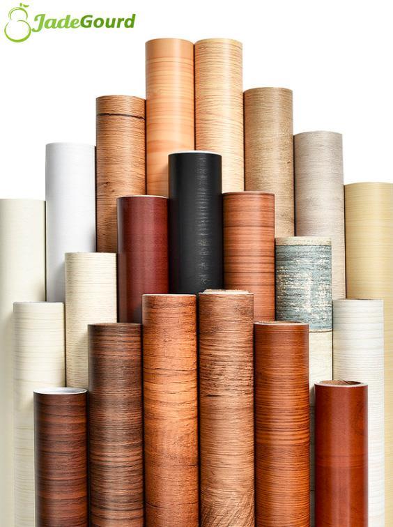 60cmx5m Furniture Wardrobe Wood Renovation Sticker Wallpaper