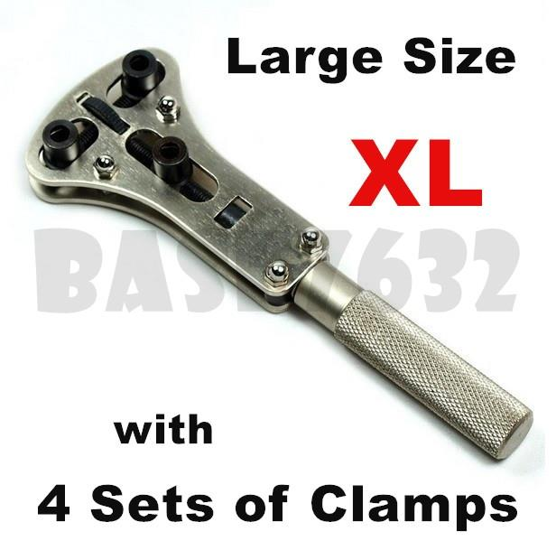 60mm  3 Prongs Watch Back Cover Case Wrench Opener Adjustable Tool Kit