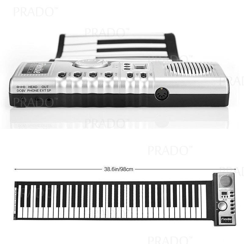 61 Keys Roll-up Portable Foldable Silicone Electronic Piano Pad Kit