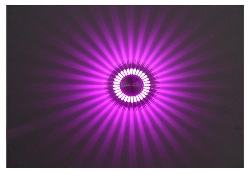 61 Station LED Wall Light QS-2-PURPLE