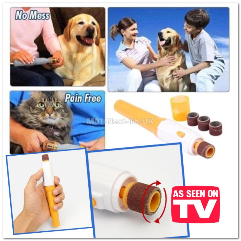 [6150] Pet Pedicure Rotating Nail Trimmer grooms Pets Claws Filling He