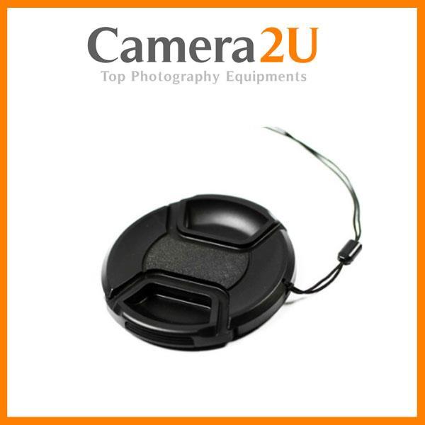62mm Snap On Lens Cap For Digital DSLR Camera With String