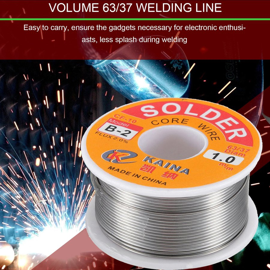 &63/37 1mm Tin Lead Line Rosin Core Flux Solder Welding Iron Wire Reel