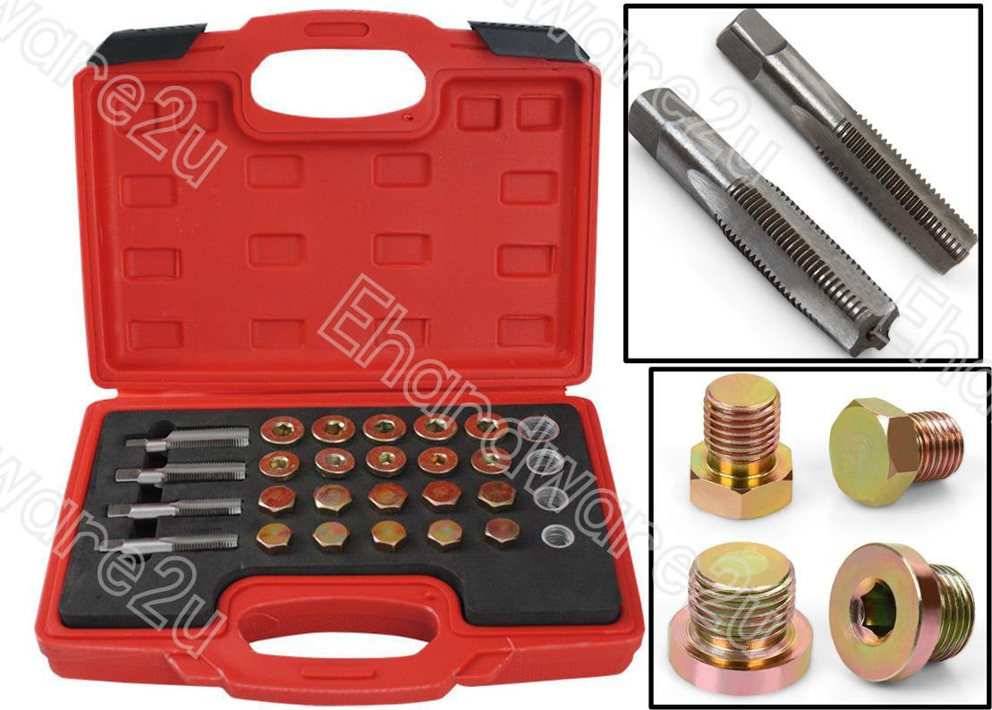 64Pcs Oil Drain Plug Sump Damaged Thread Repair Kit M13-M20 (ODRK64)