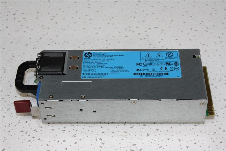 656362-B21 660184-001 643931-001 HP 460W Power Supply HSTNS-PL28
