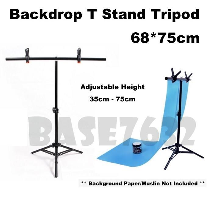 68*75cm  Backdrop  Background Studio Shooting T Stand Tripod Free Clip