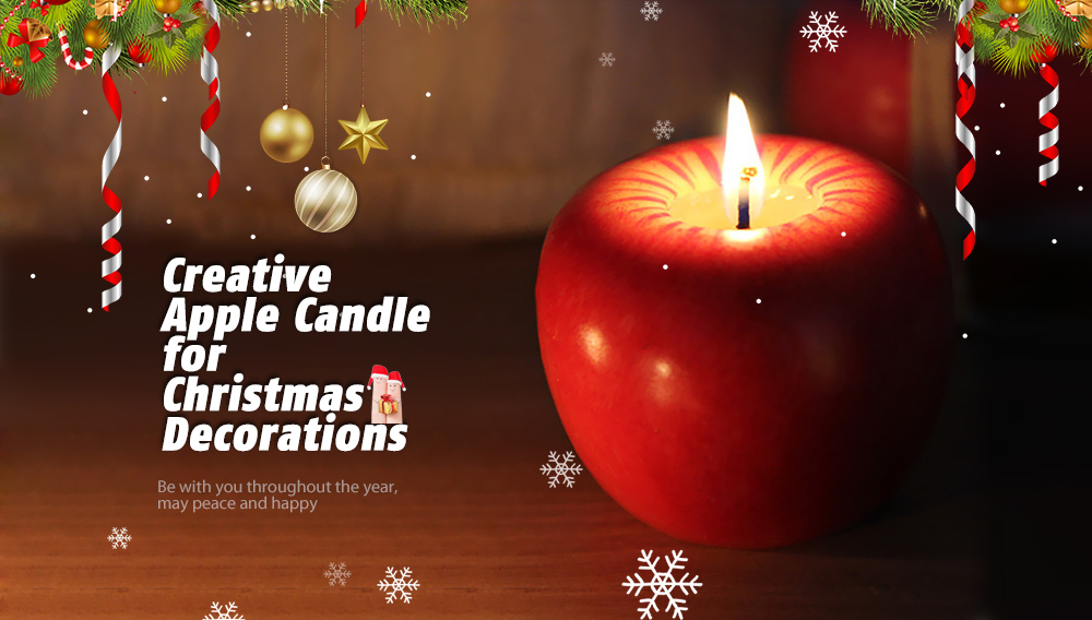 6cm Christmas Apple Candle For Christmas Decorations - Festive & Party..