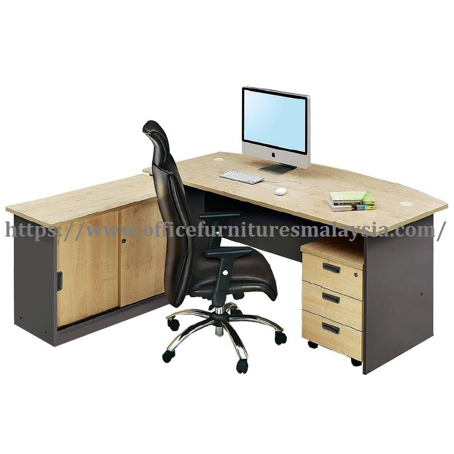6ft Office Manage D Shaped Table Set OFGM1890 office drawer cabinet KL