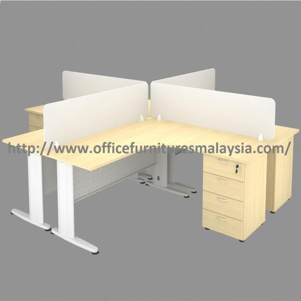 6ft x 6ft L Shaped Workstation Desk with Divider OFTJ1818 Sungai Besi