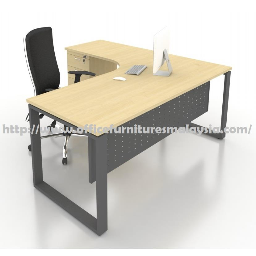 6ft x 6ft Office L Shaped Table with Drawer SLD1818 putrajaya