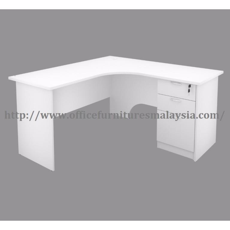 6ft X White Office Table Desk L Shaped Ofh1818 Meja Eksekutif Oug
