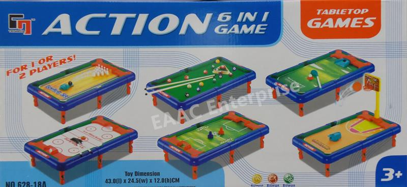 6IN1 Table Games Bowling Basketball Snooker Hockey Soccer Ice Hockey. U2039 U203a