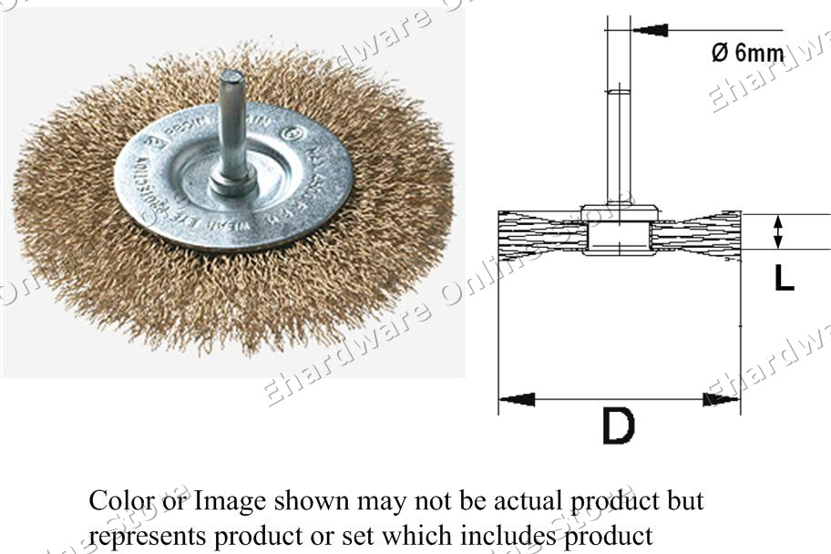 6mm Shaft-Mount Coarse Wire Circular Brush (SW) (Open Stock)