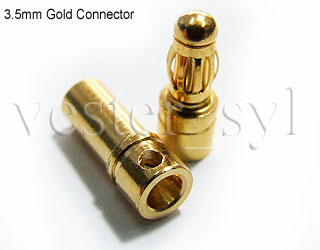 6pairs (6pcs Female & 6pcs Male) 3.5mm Gold Plated Banana Connectors