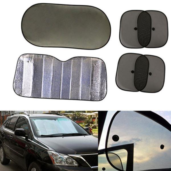 6pcs Car Window Sun Shade Windshield Visor Cover Block Front Window Si
