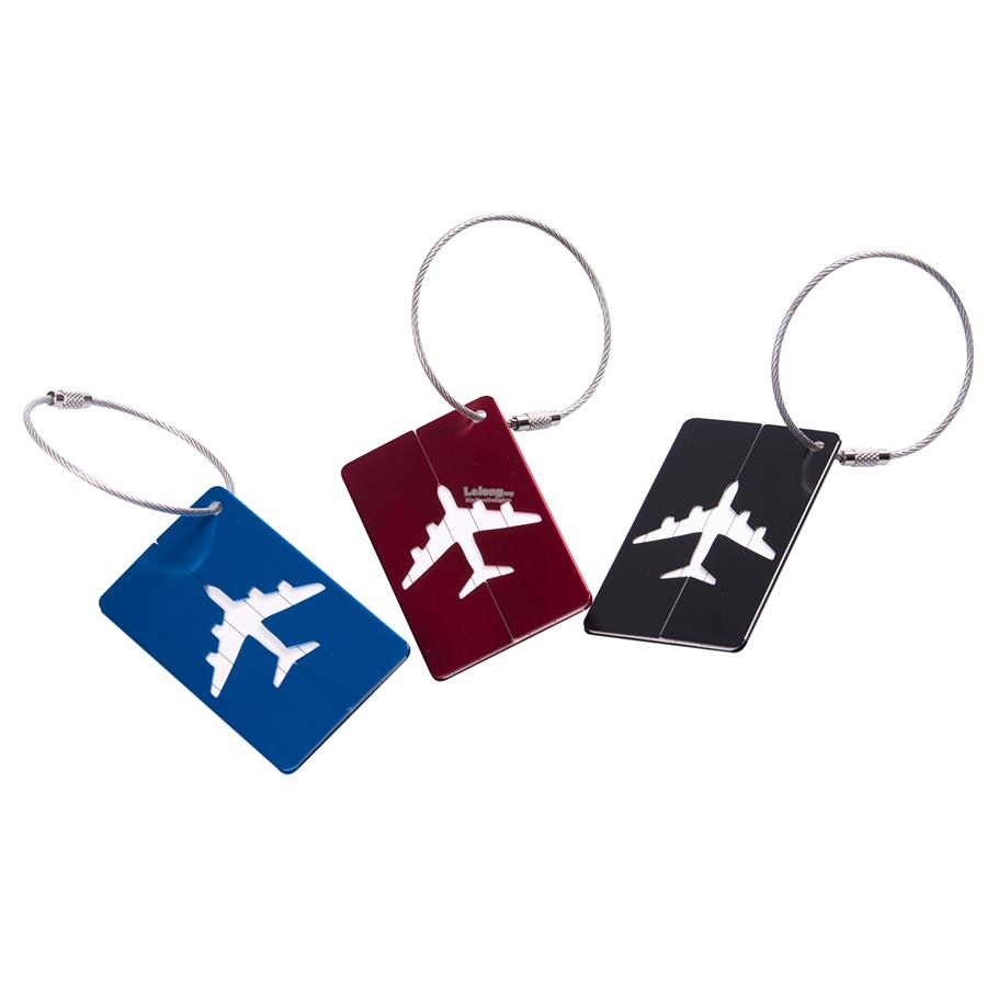 [6pcs/set] Stylish ALUMINIUM Luggage Tag (MICS-128)