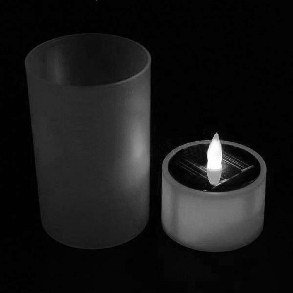 6pcs Solar Led Tea Light Tealight Candle Flameless Flickering Xm