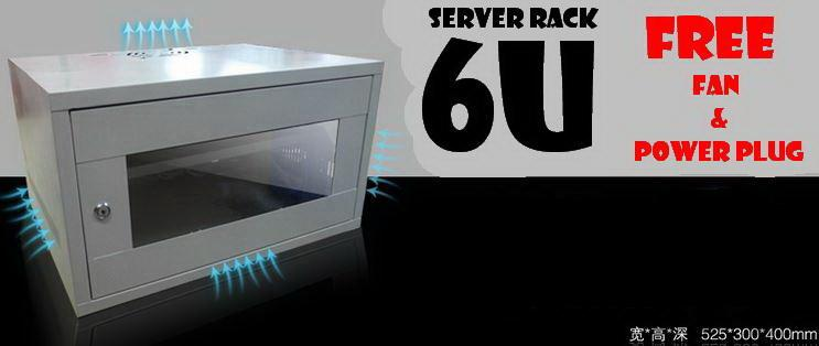 6u Server rack  c/w PDU & Fan (New)