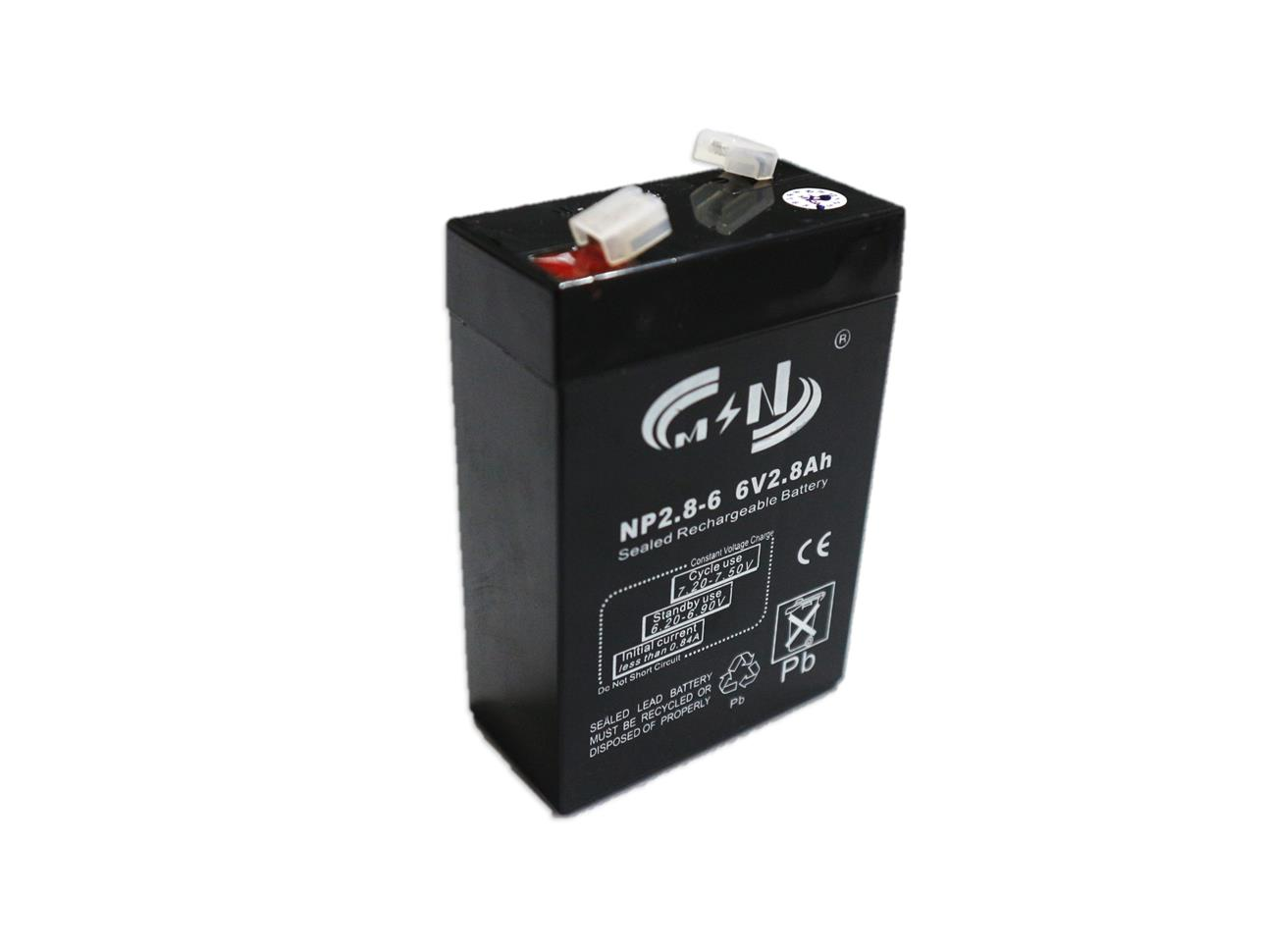 6V 2.8Ah Sealed Rechareable Battery
