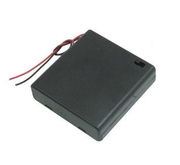 6V Battery Holder for 4 X AA Battery with ON-OFF Switch
