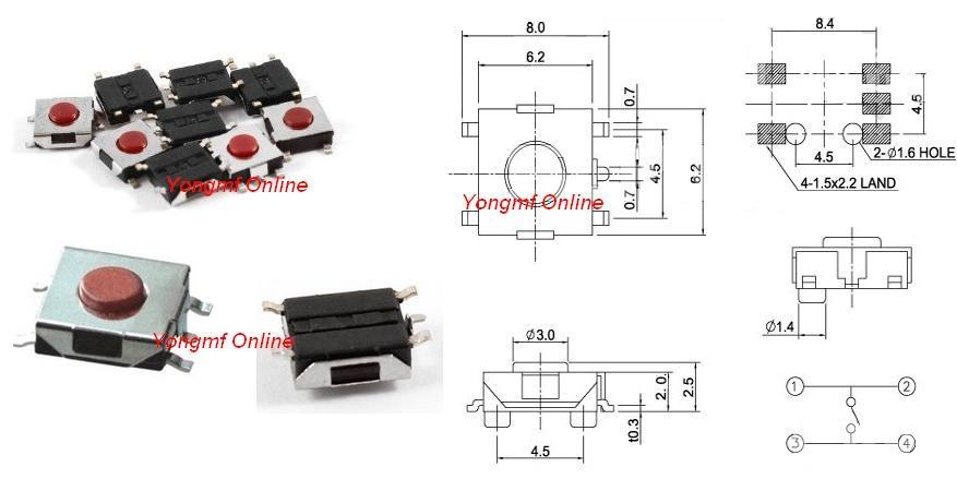6x6x2 5mm 5 pin push button smd tac end 12 28 2018 5 15 pm