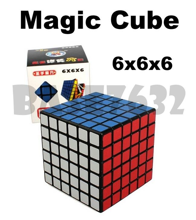 6x6x6 6x6  Puzzle Magic Cube Fast Speed Twist Turning Black Kid Toy