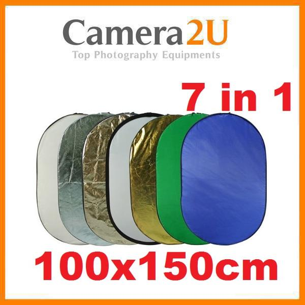 7 in 1 Reflector Kit Foldable Collapsble Studio Reflector 100x150cm