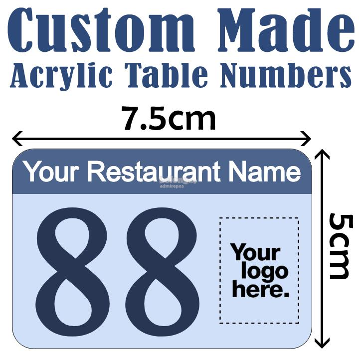 Cm X Cm Custom Made Acrylic Tabl End AM - Custom restaurant table numbers