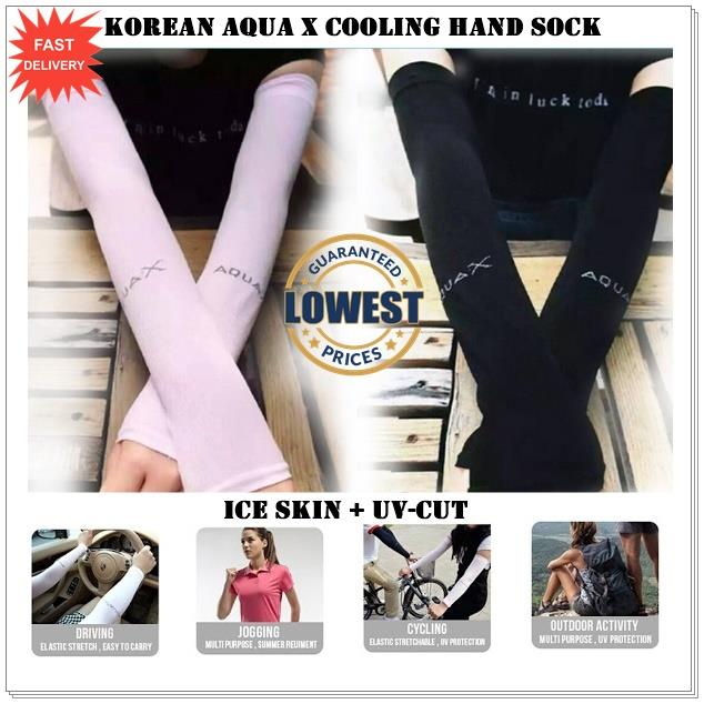 7 COLOURS - Korean Aqua X Cooling Hand Sock ! HARGA BORONG