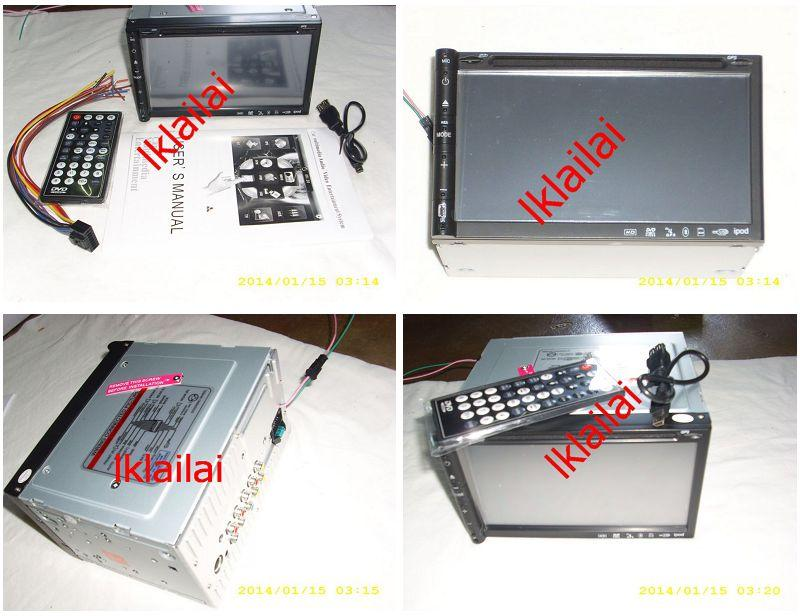 7 inch Double Din DVD Player Full HD Touch Screen USB MP3 w Bluetooth