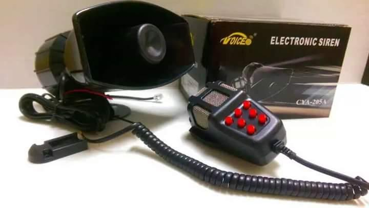 7 Tone Police Siren with Talking Mic 100 Watts Loud Model