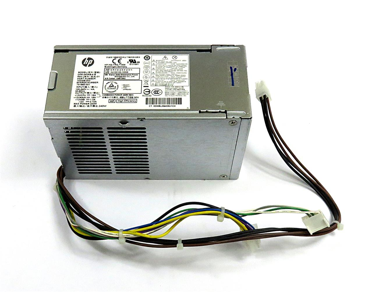 702308-002 /751865-001 / 751885-001 - HP 240 WATTS SFF PFC PSU (REF)