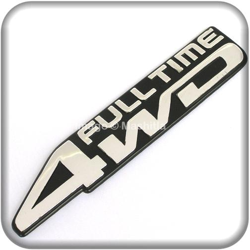 [7062] FULL TIME 4WD 3D Chrome Car Badge Decal Emblem Trunk Side Logo