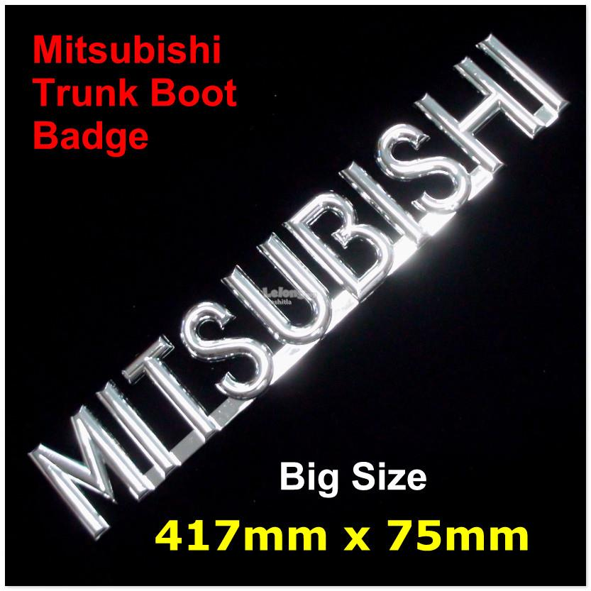 [7131#B2]  Mitsubishi Big Trunk Boot Bagde 3D Chrome Car Badge Sticker