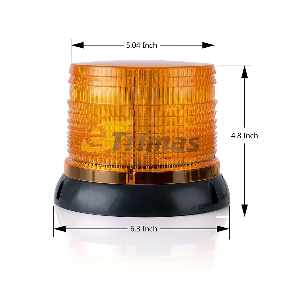 72 LED 2 Mode Beacon Lamp Rotate Flash Warning Strobe Light Cigarette