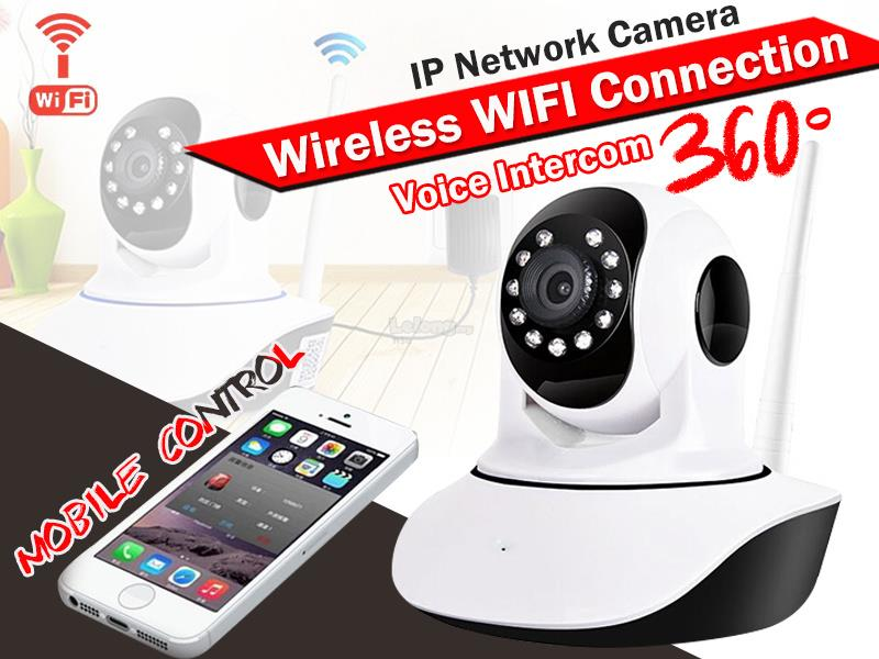 720/960P HD Wireless IP Camera With Smartphone Instant View & Intercom